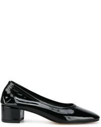 Zapatos de Tacón de Cuero Negros de Maryam Nassir Zadeh