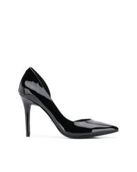 Zapatos de tacón de cuero negros de MICHAEL Michael Kors