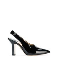 Zapatos de tacón de cuero negros de Paul Andrew