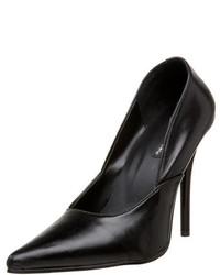 Zapatos de Tacón de Cuero Negros de Pleaser