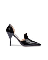 Zapatos de tacón de cuero negros de Prada