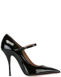 Zapatos de Tacón de Cuero Negros de RED Valentino