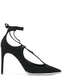 Zapatos de Tacón de Cuero Negros de Rene Caovilla