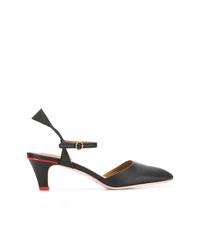 Zapatos de tacón de cuero negros de See by Chloe