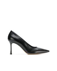 Zapatos de tacón de cuero negros de The Row