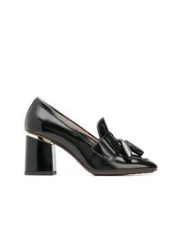 Zapatos de tacón de cuero negros de Tod's
