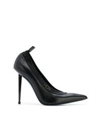 Zapatos de tacón de cuero negros de Tom Ford