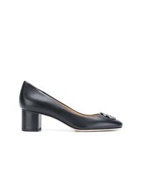 Zapatos de tacón de cuero negros de Tory Burch