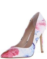 Zapatos de tacón de cuero plateados de Charles by Charles David