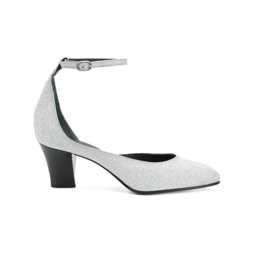 Zapatos de tacón de cuero plateados de Golden Goose Deluxe Brand