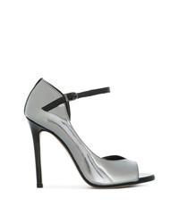 Zapatos de Tacón de Cuero Plateados de Marc Ellis