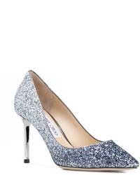 Tacón Jimmy Zapatos De Cuero ChooMex 972 11 Plateados cJl1KF