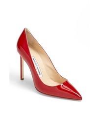 Zapatos de tacón de cuero rojos