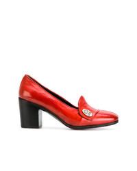 Zapatos de Tacón de Cuero Rojos de Alberto Fasciani