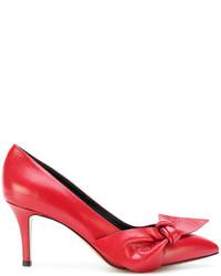Zapatos de Tacón de Cuero Rojos de Isabel Marant