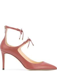 Zapatos de Tacón de Cuero Rojos de Jimmy Choo