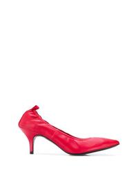 Zapatos de tacón de cuero rojos de Joseph