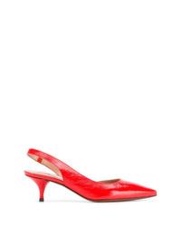 Zapatos de tacón de cuero rojos de L'Autre Chose