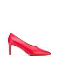 Zapatos de tacón de cuero rojos de Mansur Gavriel