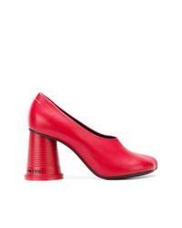 Zapatos de tacón de cuero rojos de MM6 MAISON MARGIELA