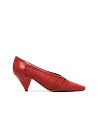 Zapatos de Tacón de Cuero Rojos de Neous