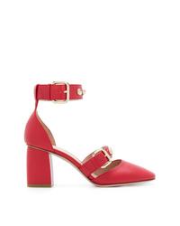 Zapatos de Tacón de Cuero Rojos de RED Valentino