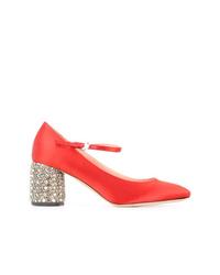 Zapatos de tacón de cuero rojos de Rochas