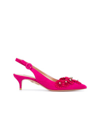 Zapatos de tacón de cuero rosa de Aquazzura