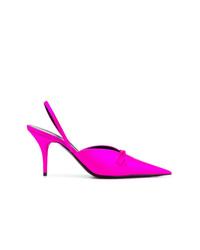 Zapatos de tacón de cuero rosa de Balenciaga