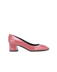 Zapatos de tacón de cuero rosa de Bottega Veneta
