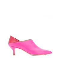 Zapatos de tacón de cuero rosa de Golden Goose Deluxe Brand
