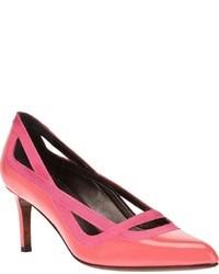 Zapatos de Tacón de Cuero Rosa de Lanvin
