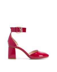 Zapatos de tacón de cuero rosa de RED Valentino