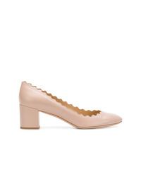 Zapatos de Tacón de Cuero Rosados de Chloé