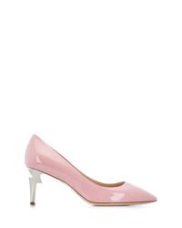 Zapatos de tacón de cuero rosados de Giuseppe Zanotti