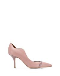 Zapatos de tacón de cuero rosados de Malone Souliers