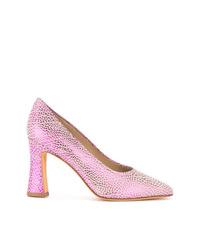 Zapatos de tacón de cuero rosados de Maryam Nassir Zadeh