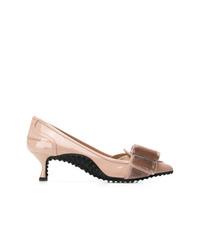 Zapatos de tacón de cuero rosados de Tod's