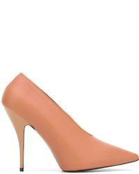 Zapatos de Tacón de Cuero Tabaco de Stella McCartney