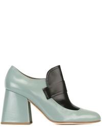 Zapatos de Tacón de Cuero Verde Menta de Marni