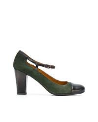 Zapatos de Tacón de Cuero Verde Oscuro de Chie Mihara