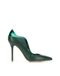 Zapatos de Tacón de Cuero Verde Oscuro de Malone Souliers