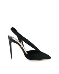 Zapatos de Tacón de Cuero Verde Oscuro de Olgana