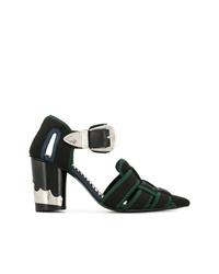 Zapatos de Tacón de Cuero Verde Oscuro de Toga Pulla