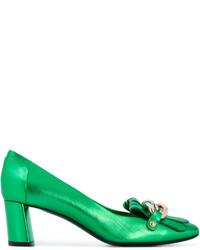 Zapatos de Tacón de Cuero Verdes de Casadei