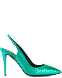 Zapatos de Tacón de Cuero Verdes de Giuseppe Zanotti