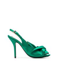 Zapatos de Tacón de Cuero Verdes de N°21