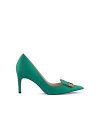 Zapatos de Tacón de Cuero Verdes de Sergio Rossi