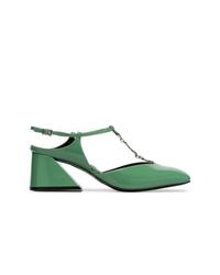 Zapatos de Tacón de Cuero Verdes de Yuul Yie