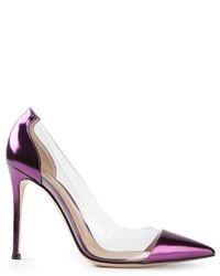 Zapatos de Tacón de Cuero Violeta de Gianvito Rossi